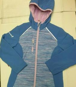 Free Country Kids Soft Shell Hooded Full Zip Jacket  Girls P