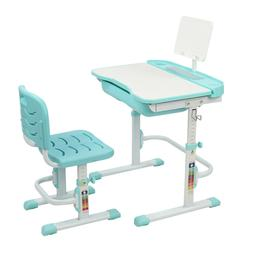 Kids Study Desk Chair Set Height Adjustable Children Table D