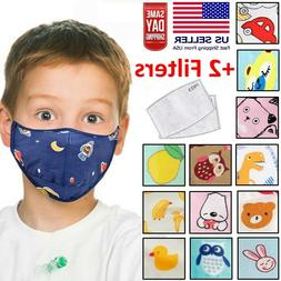 Kids Toddler Boys Girls Reusable Washable Fabric Face Mask w