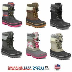 Kids Toddlers Boys Girls Winter Snow Boots Waterproof Outdoo