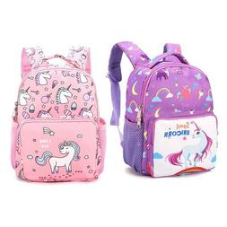 US Kindergarten Unicorn Little Girls Boys Kids Bags Book Bac