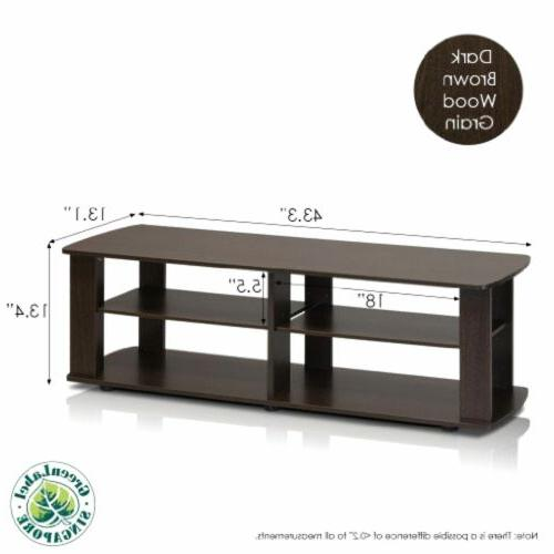 Furinno - Up to Load Capacity Flat Panel - 43.3 Width x Depth - Particleboard, Rubber,