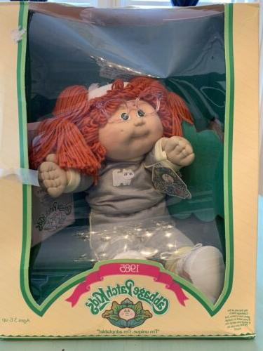 1985 cabbage patch kid cpk redhead ponytail