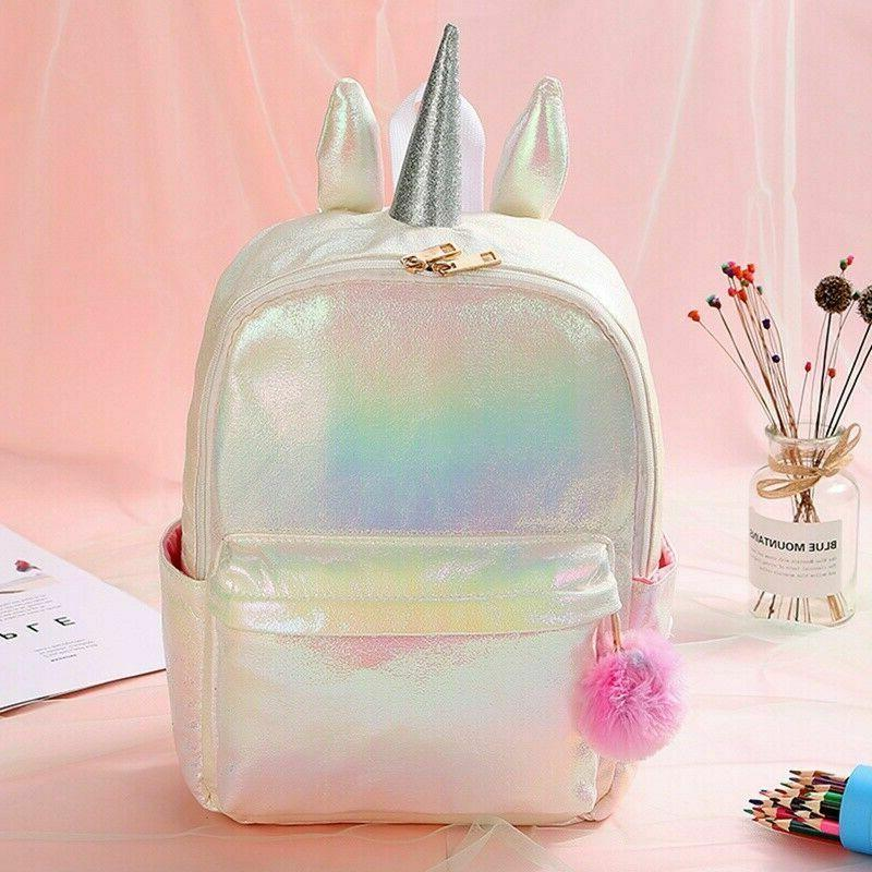 Cartoon Unicorn Sequin Mini Kids Girls Women Backpack School