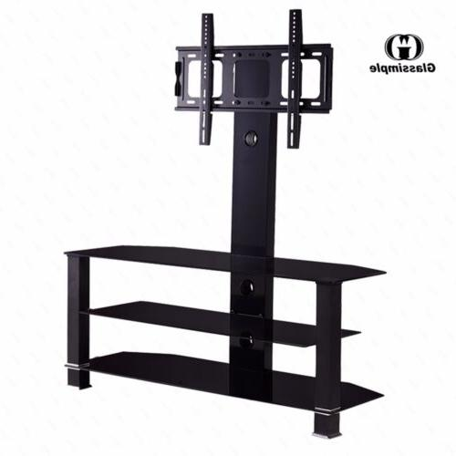 "32""-55"" Tempered Glass TV Stand Console Media with Bracket P"