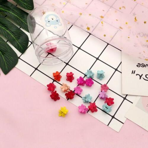 50 PCS Mini Plastic Hairpins Mini Claw Hair Clamp Flower