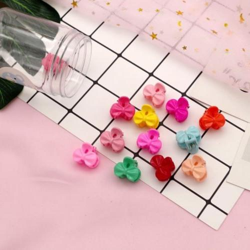 50 PCS Kids Girls Mini Plastic Mini Claw Clamp Flower