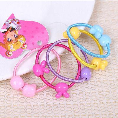 50 pcs Girls Assorted Elastic Rubber Hair Rope HolderXS