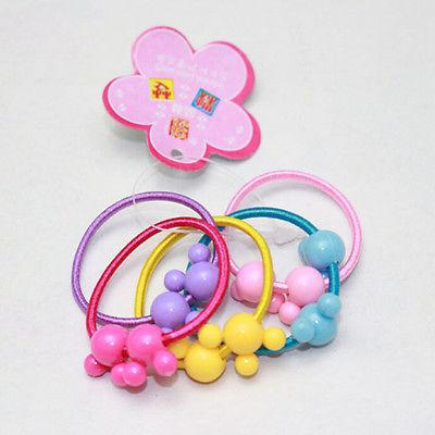 50 pcs Lot Kids Girls Rubber Hair Rope Ponytail HolderXS