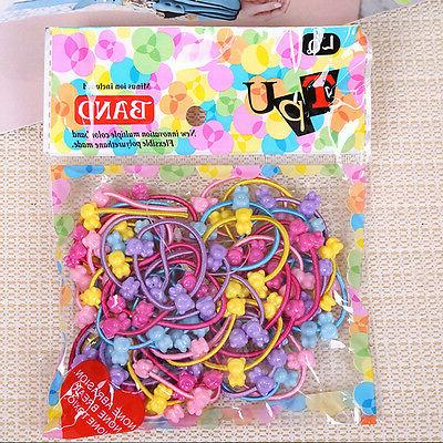 50 Lot Girls Elastic Hair Rope HolderXS