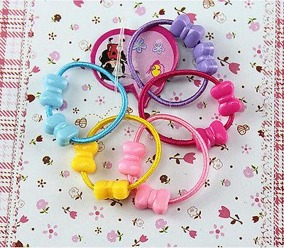 50 Kids Girls Assorted Elastic Hair HolderXS