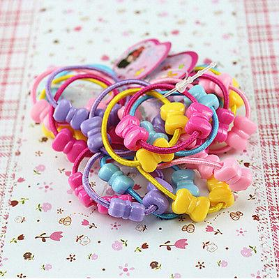 50 pcs lot kids girls assorted elastic