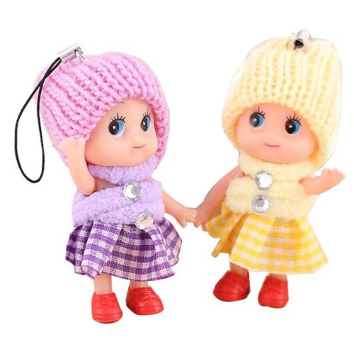 5 Pcs Kids Soft Interactive Dolls Toy Mini Doll For Girls Gift