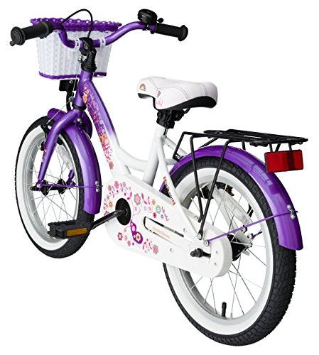 BIKESTAR Sport Kids Bicycle with for Old Children | 16 Inch Edition Girls Candy & Diamond White