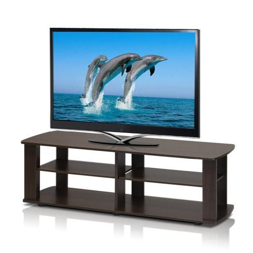 "Furinno 11191DBR Entertainment Center, Short 43.3"" x13.4 x13"