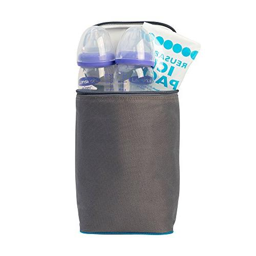 J.L. TwoCOOL Bottle Cooler, Grey/Teal