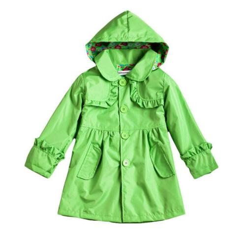 Kids Girls Jackets Girls Outerwear Waterproof Coats Raincoat