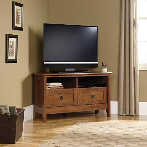 Sauder 410627 August Corner Stand For TV's up Oiled