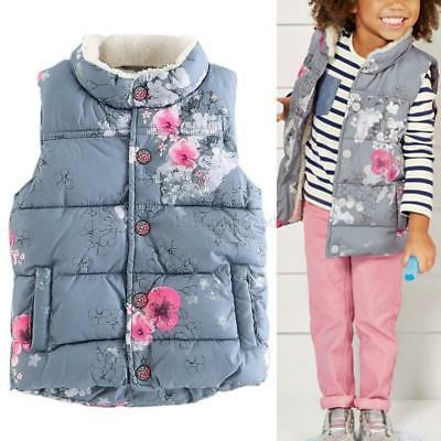 US Winter Newborn Kids Baby Girls Warm Outerwear Floral Coat
