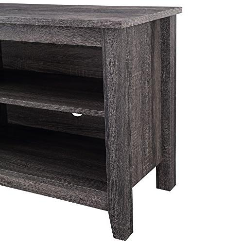 """WE 58"""" TV Stand Charcoal"""