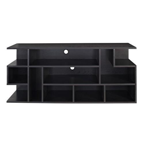 """WE 60"""" Black Wood TV Stand Console"""