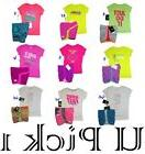Nike Athletic Shirt Shorts Set Girls Active Sports 2 pc Outf