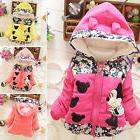 Baby Girls Kids Cartoon Minnie Mouse Hooded Jacket Coat Wint