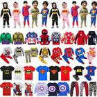 Baby Kids Boys Girls Superhero Hoodie Tops Pants Outfits Jac