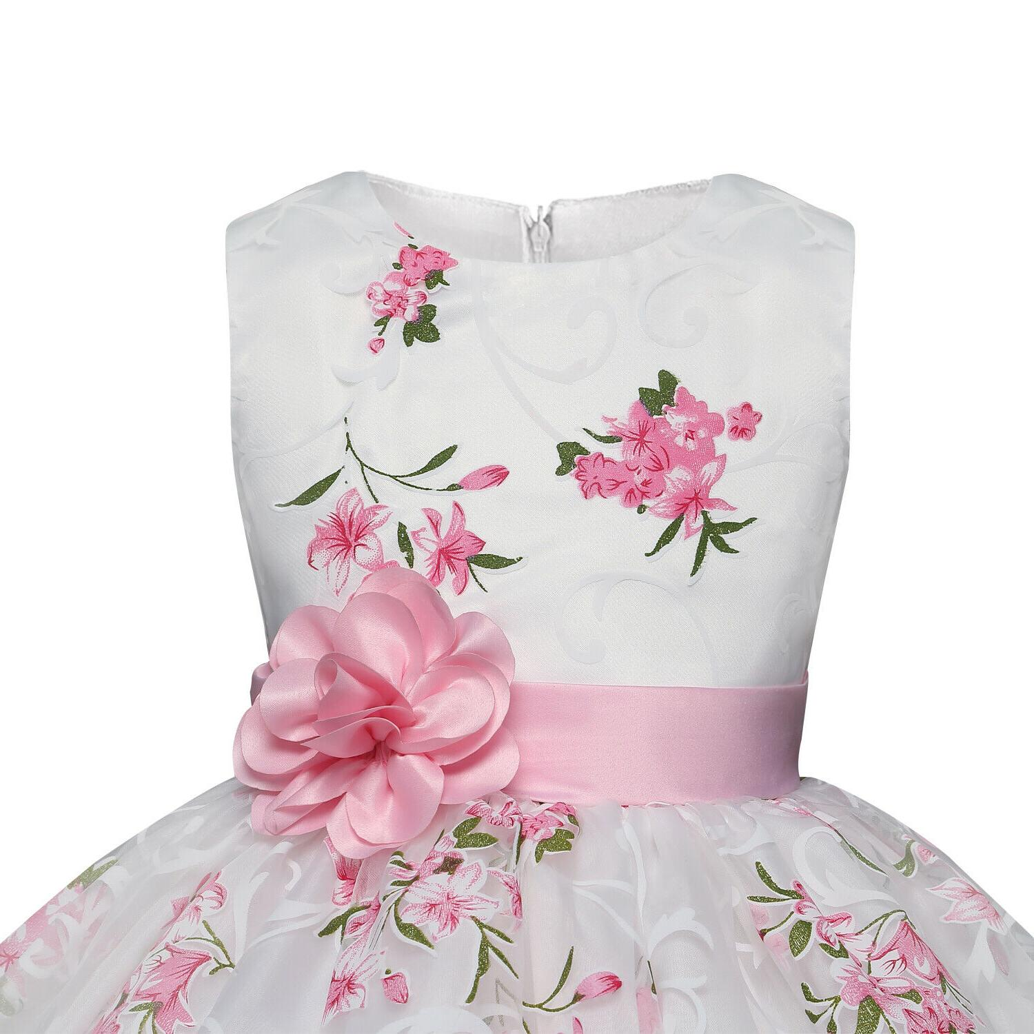 Baby Kids Flower Princess Party Wedding Bridesmaid Size 8T