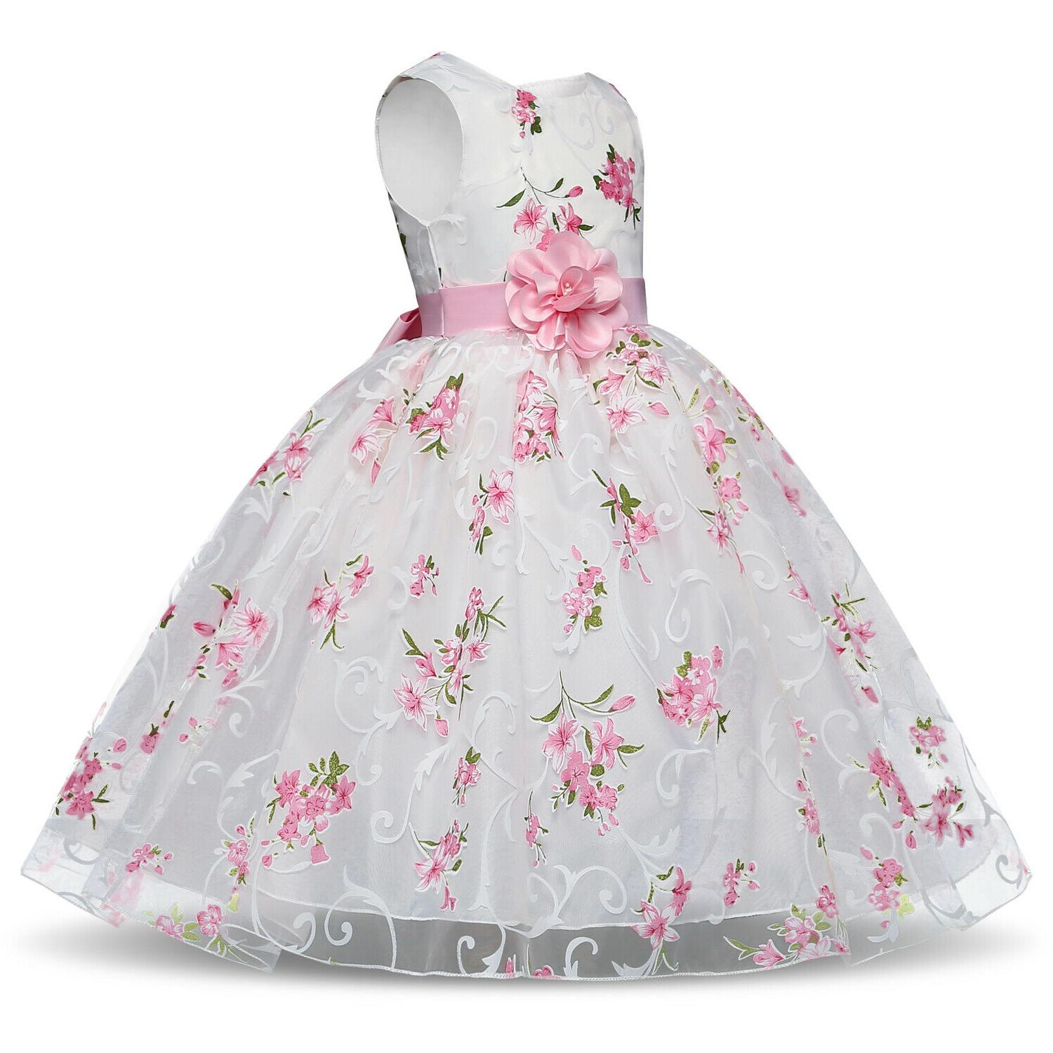 Baby Dress Flower Bridesmaid Gown Size 8T