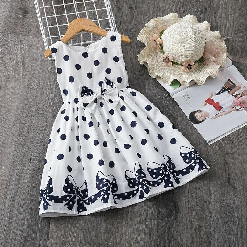 Baby Dots Dress Girl Summer Clothes