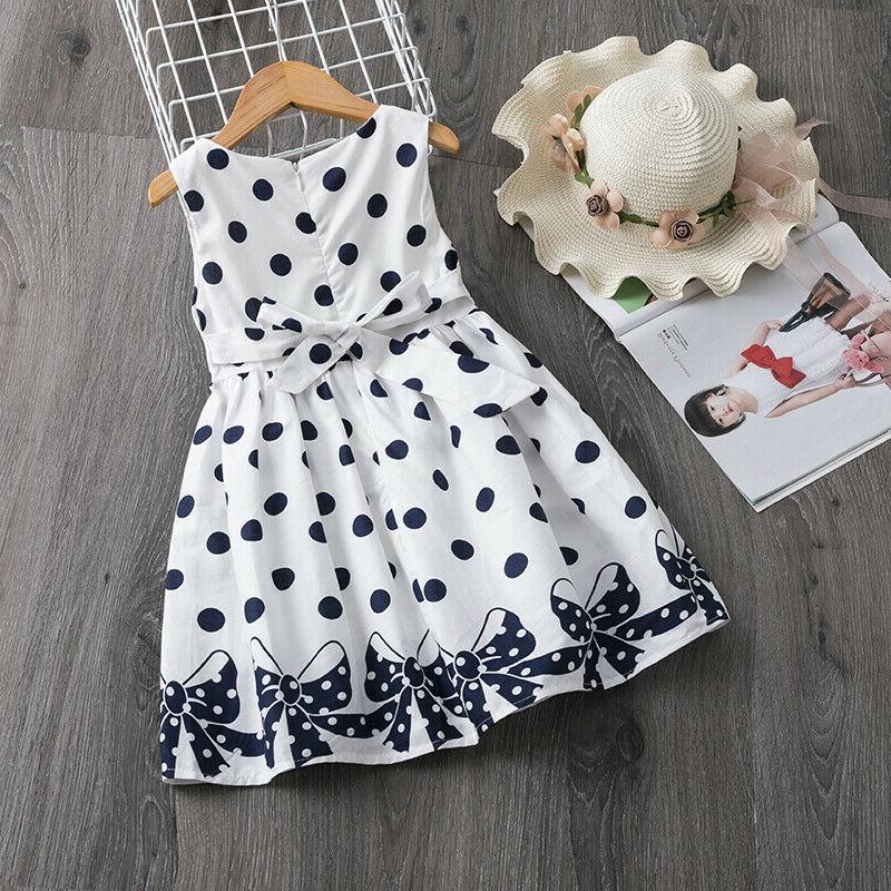 Baby Girls Dots Birthday Party Girl Summer Clothes