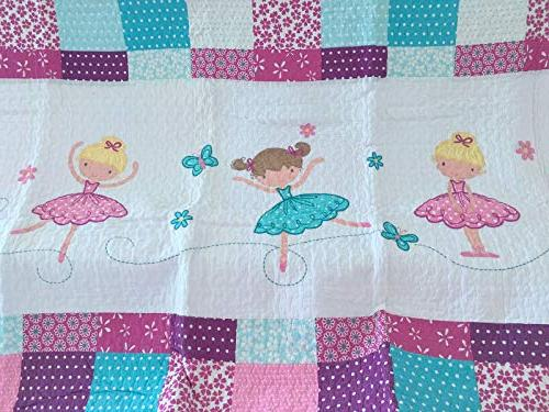 Cozy Line Quilt Pink Orchid Bedspread Kids Girl