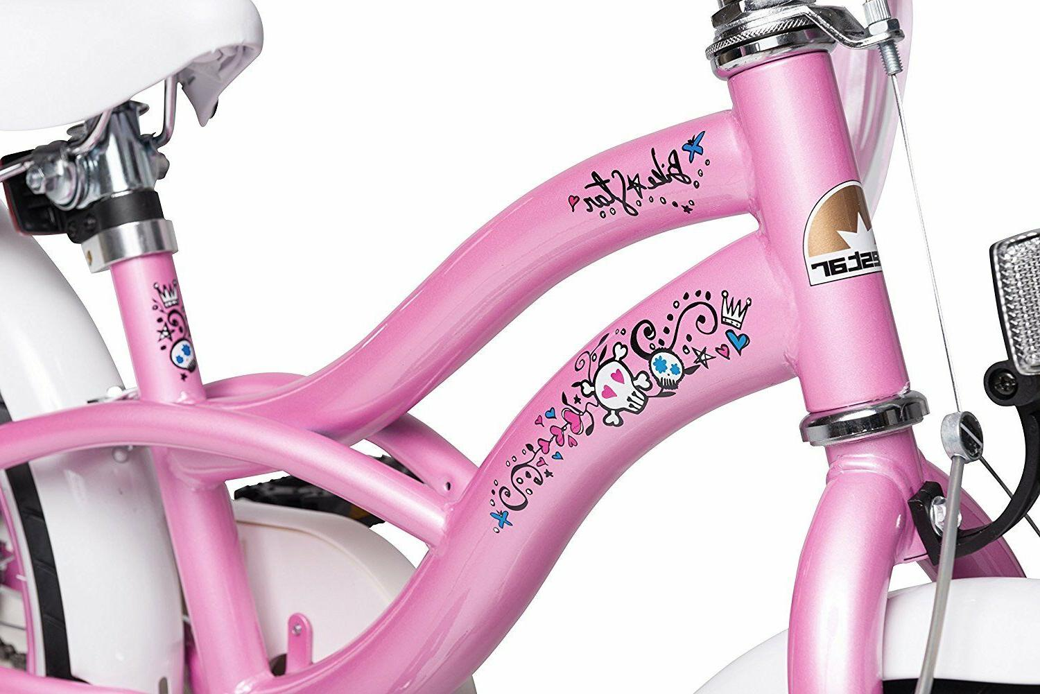 BIKESTAR® Bicycle Cruiser Pink w/Accessories