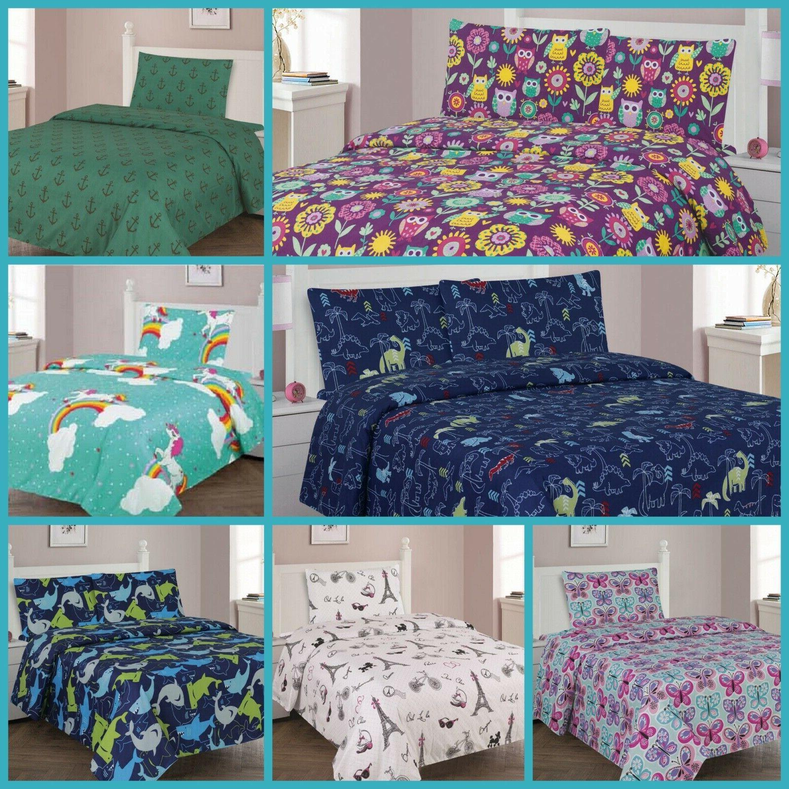 boys and girls bed premium collection printed