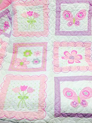 Cozy Line Butterfly Set, Orchid Coverlet, Gifts