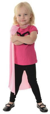 Cape Child Pink 24 Inch Long Girls Costume Straight Edge Sup