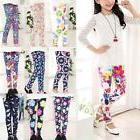 Child Kids Girls Leggings Pants Floral Printed Stretchy Skin