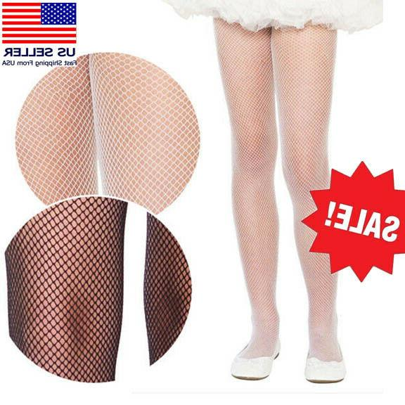 Childrens Child Kids Girls Fishnet Diamond Nylon Solid Color