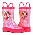 Disney Childrens Girls Waterproof Easy-On Rubber Rain Boots