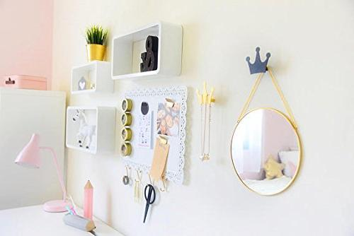 Crown Wall Hook,Wall Clothes for Hat Towel Decor Stickers Kids Girls Bedroom Decoration