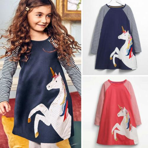 Cute Kids Baby Party Long Clothes US