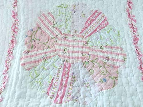 Cozy Line Home Fashions Daisy Quilt 100% Reversible Bedspread, Gifts Girl Women