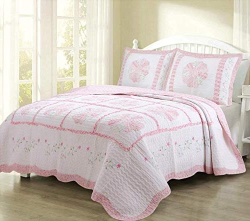daisy field pink embroidered cotton