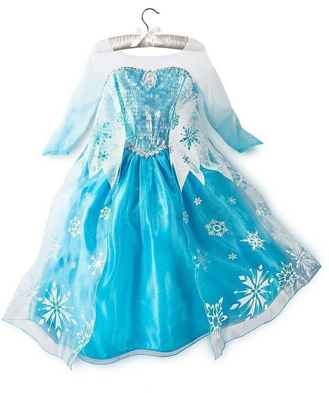 Disney Elsa ice princess Costume party Snow Dress
