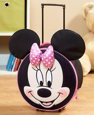DISNEY KIDS GIRLS MINNIE MOUSE MOLDED ROLLING LUGGAGE SUITCA