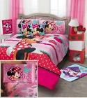 Disney Minnie Mouse Red Dress Comforter Sheet Set New Girls