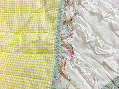 Cozy Dreamy Set, Tiffany Chic Lace Patchwork 100% Reversible Coverlet, Girls Women