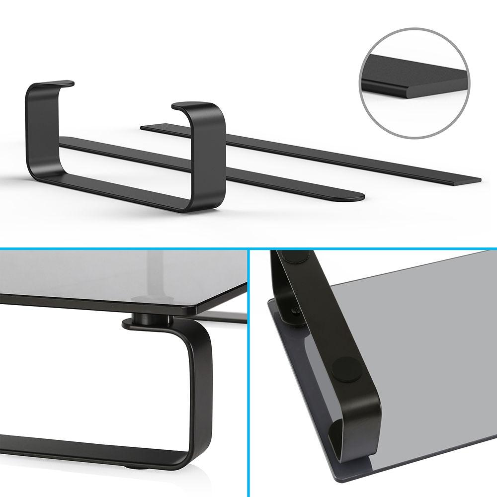 Fitueyes Black Computer Monitor TV Stand