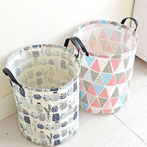 Pauwer Fabric Nursery Canvas with Waterproof for Boys Girls Toys